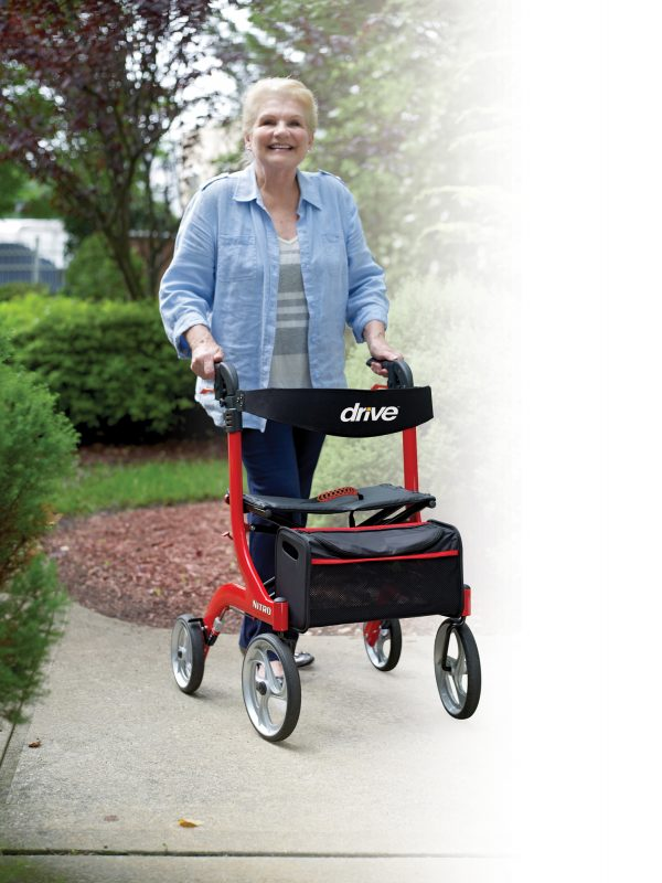 nitro euro style rollator by drive medical